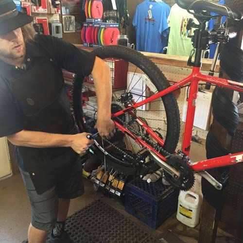 Copper Harbor Mountain Bike Repair