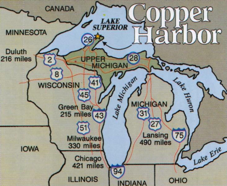image about Printable Map of Upper Peninsula Michigan known as Map of Keweenaw Peninsula, Lake Greater, and Isle Royale
