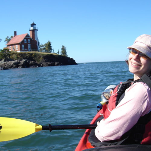 Sea Kayaking in Upper Peninsula, Michigan